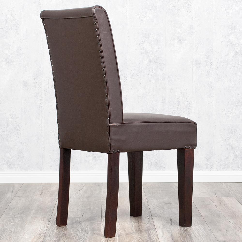 stuhl kurasee aus echtem b ffelleder in manish dark. Black Bedroom Furniture Sets. Home Design Ideas