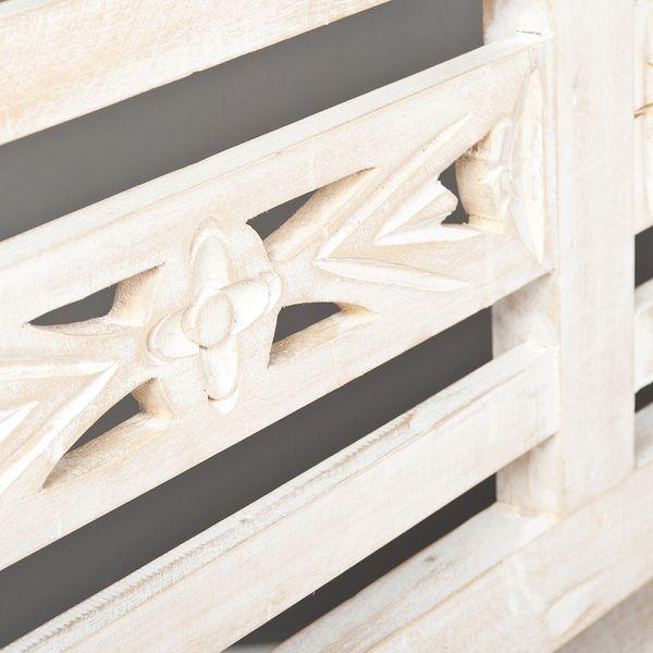 Sitzbank CHRISTOS White-Washed 100cm Mahagoni – Bild 4