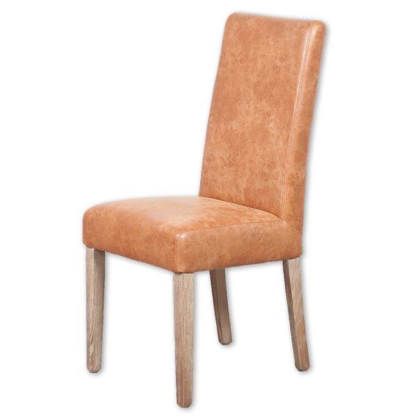 Echtleder-Stuhl CLASSIC Cognac – Bild 1