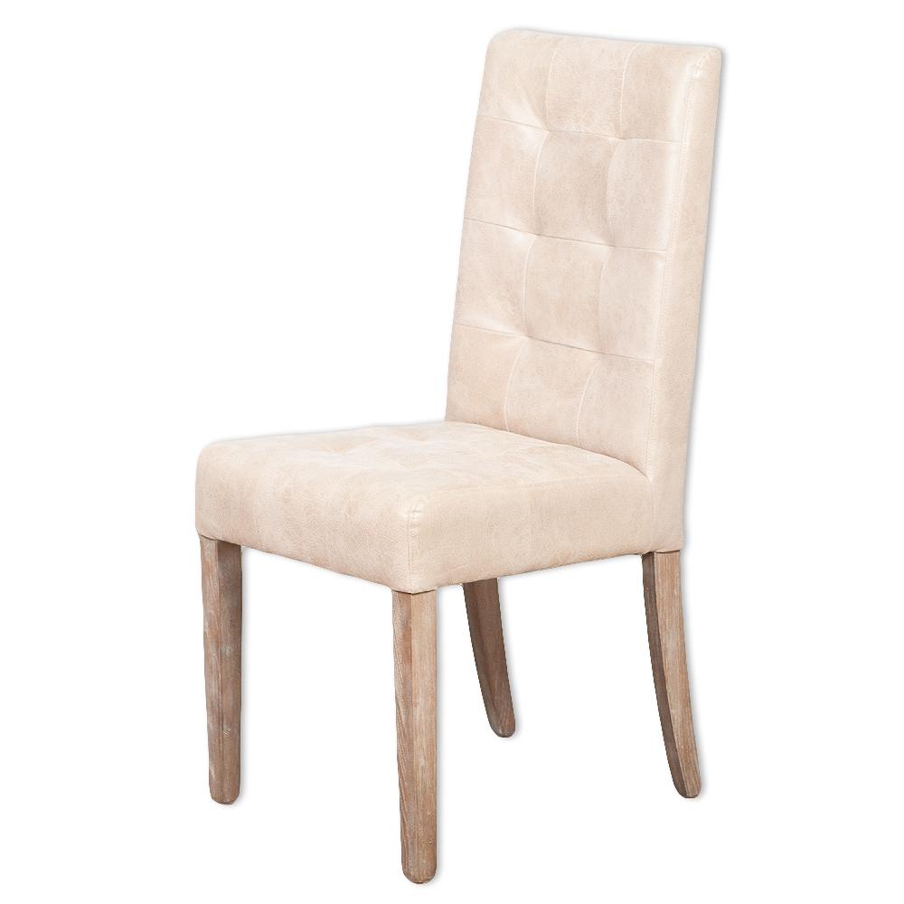 Faszinierend Esstisch Stühle Leder Sammlung Von Echtleder-stuhl Noble Creme Gesteppt