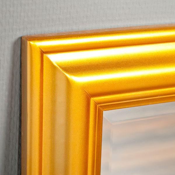 Spiegel ONDA 90x70cm Glanz Gold – Bild 2