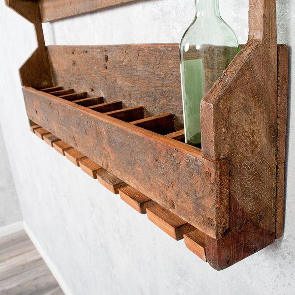 Flaschenregal-Weinregal INDO Rustic-Grey aus recyceltem Holz – Bild 6