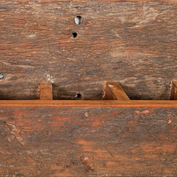 Flaschenregal-Weinregal INDO Rustic-Grey aus recyceltem Holz – Bild 8
