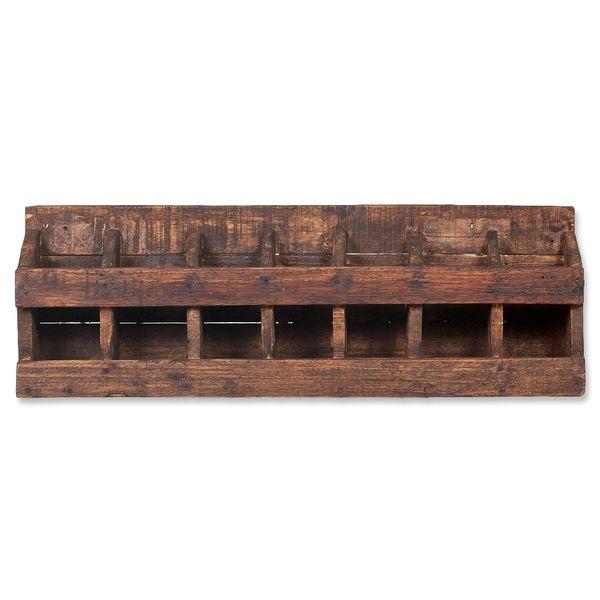 Wandregal-Weinregal TINI Dark-Brown aus recyceltem Holz mit Wandhalterungen – Bild 3