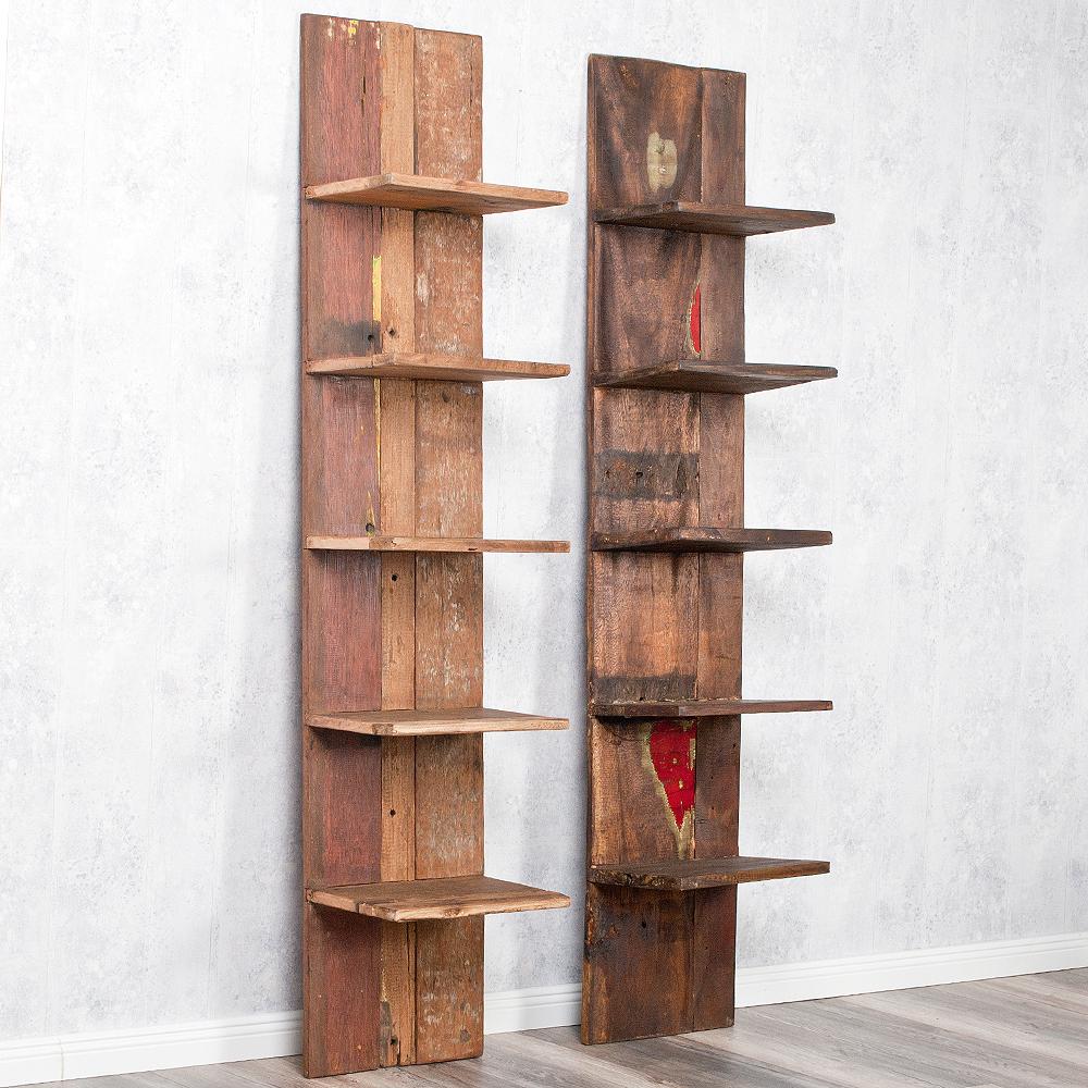 Individuelles Wandregal Indo Aus Recyceltem Holz 170cm 6373