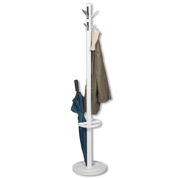 Garderobenständer TALO aus Metall weiß (ca. 176cm) – Bild 1