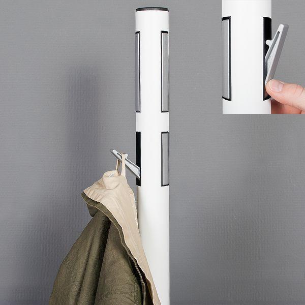 Garderobenständer TALO aus Metall weiß (ca. 176cm) – Bild 2