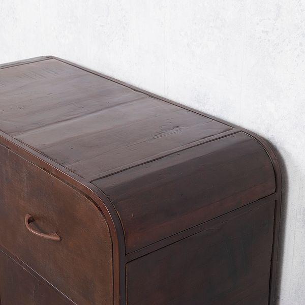 Kommode RAJENDRA in Natur-S aus Recycled Wood Retro-Stil Sideboard 90cm – Bild 8