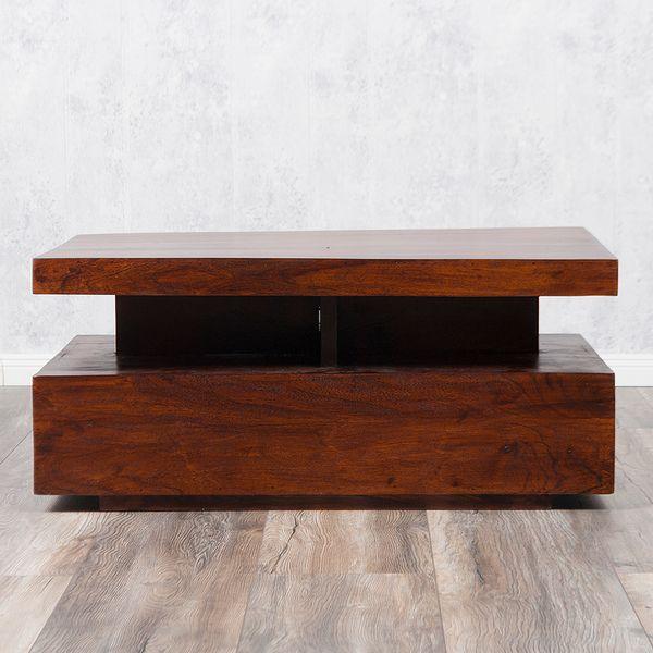 Couchtisch KARIM Brown-n 90x60cm Massivholz – Bild 4