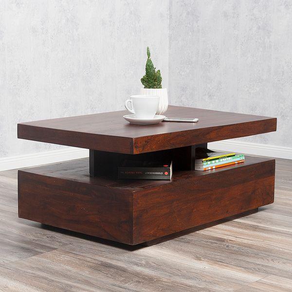 Couchtisch KARIM Brown-n 90x60cm Massivholz – Bild 2