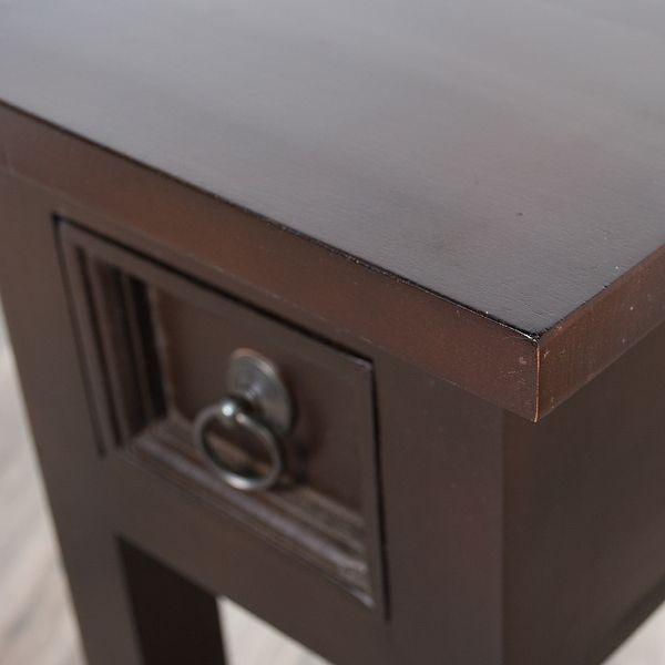Beistelltisch NIEKE 25x67cm (BxH) Braun Mahagoni – Bild 5
