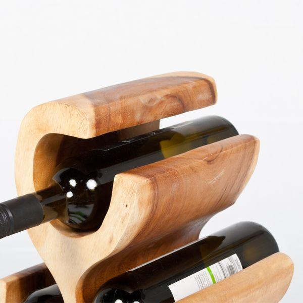 Weinregal / Flaschenhalter BOTOL-S ca. 50cm massives Suar-Holz – Bild 7