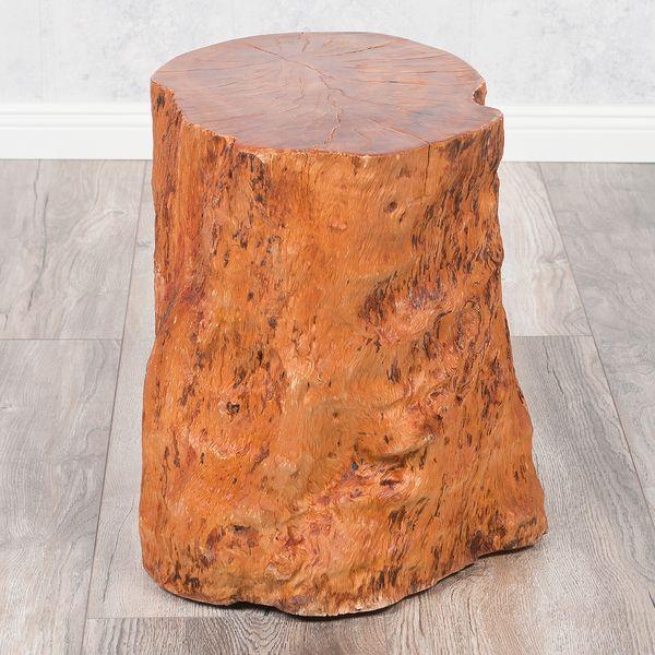 Hocker / Beistelltisch LONGAN Natural Longan-Holz – Bild 1