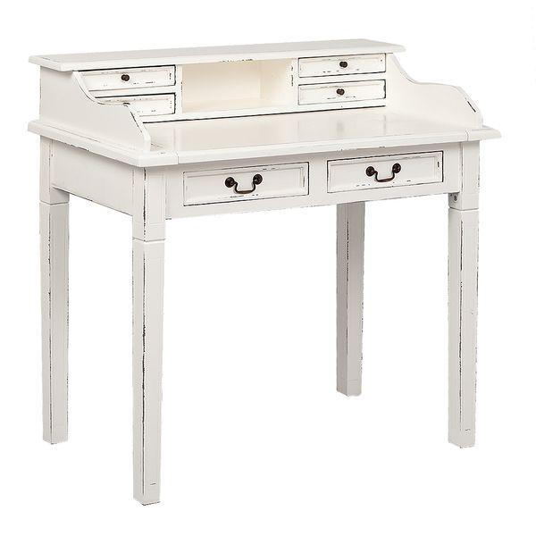 Sekretär ILENA Antique-White ca. L100cm Mahagoni Schreibtisch – Bild 1