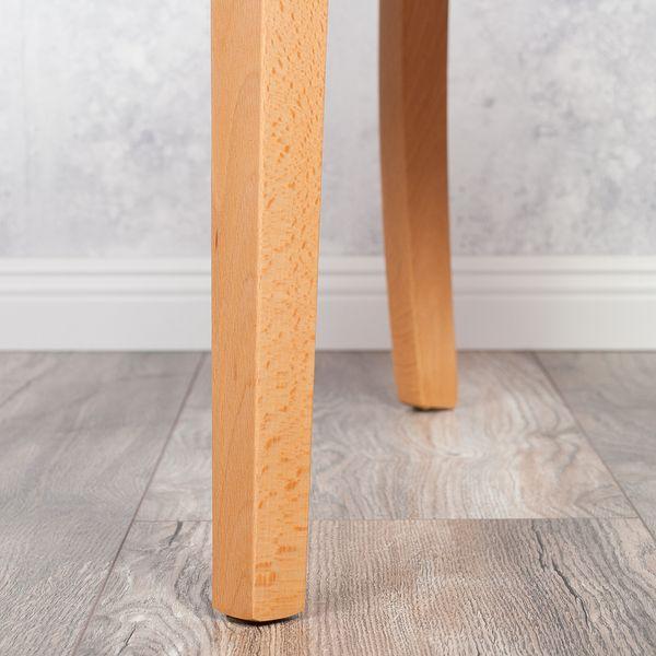 2er Set Stuhl ROKO DEMONT 1 Antik Braun Textil-Leder – Bild 9