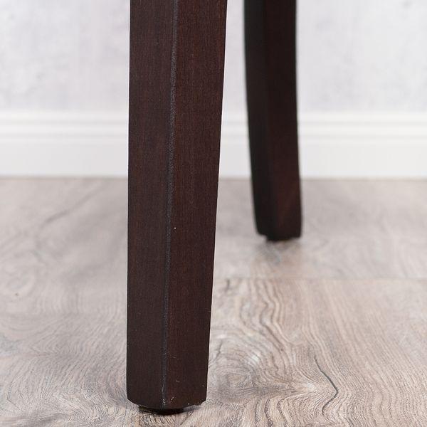 2er Set Stuhl ROKO DEMONT 2 Braun Stoffbezug – Bild 9