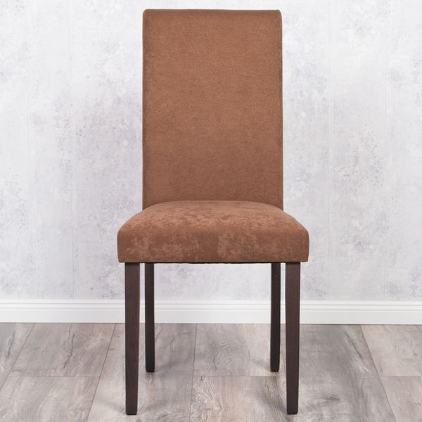 2er Set Stuhl ROKO DEMONT 2 Braun Stoffbezug – Bild 3