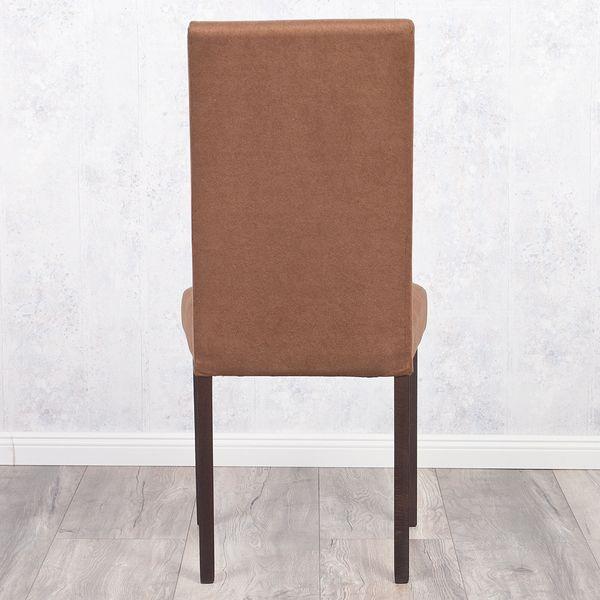 2er Set Stuhl ROKO DEMONT 2 Braun Stoffbezug – Bild 6