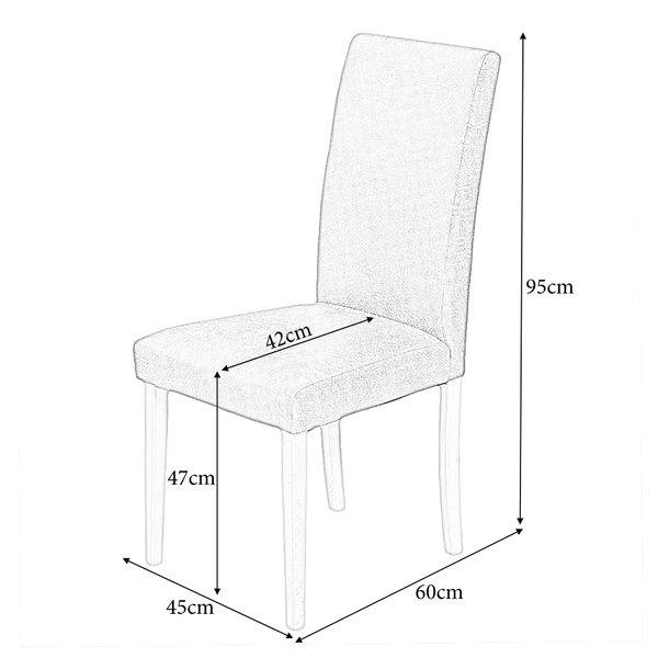 2er Set Stuhl ROKO DEMONT 2 Braun Stoffbezug – Bild 10