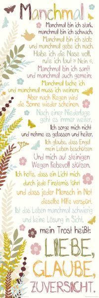 Wandbild MANCHMAL 30x90cm Deko Bild Holzschild – Bild 1