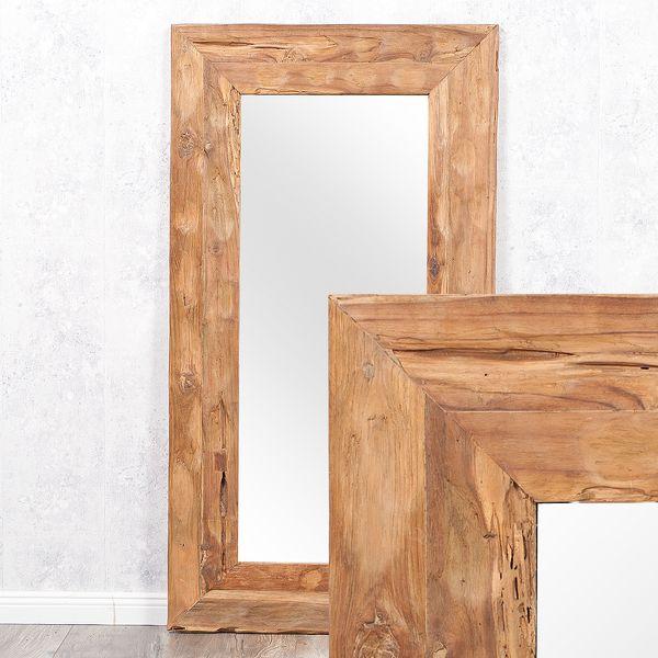 Wandspiegel TEAK ca. 120x60cm recyceltes Teakholz Spiegel – Bild 1