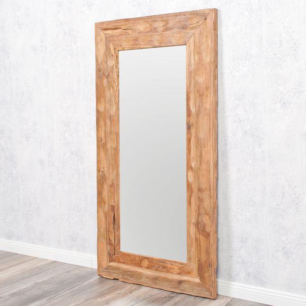 Wandspiegel TEAK ca. 120x60cm recyceltes Teakholz Spiegel – Bild 3