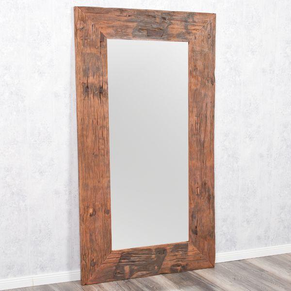 Wandspiegel KING ca. 180x100cm recyceltes Teakholz Spiegel – Bild 2