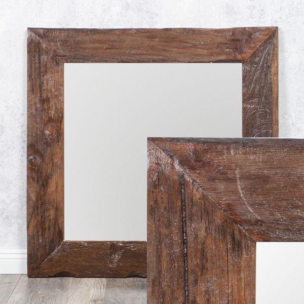 Wandspiegel TEAK ca. 70x70cm recyceltes Teakholz Spiegel – Bild 1