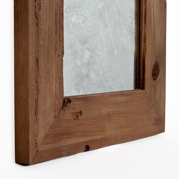 Wandspiegel TEAK ca. 70x50cm recyceltes Teakholz Spiegel – Bild 3