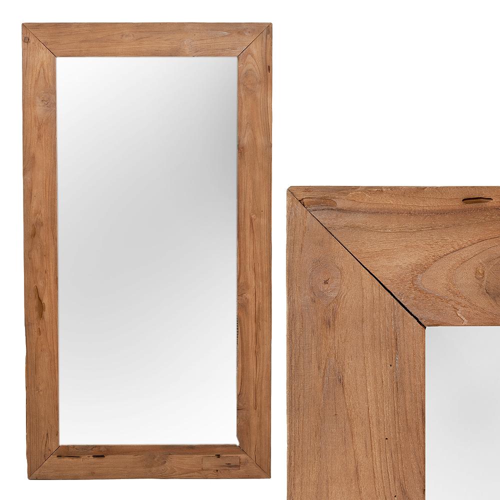 Wandspiegel TEAK ca. 130x70cm recyceltes Teak Spiegel