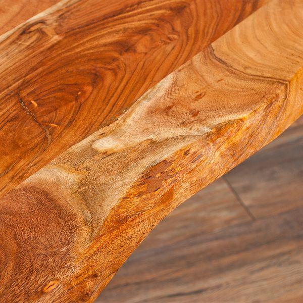 Esstisch CORRENTE 90x90cm aus massivem Akazienholz / Metall – Bild 6
