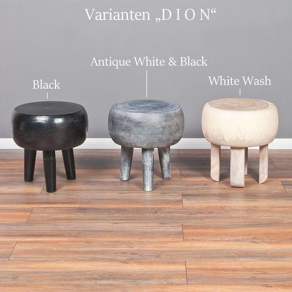 Massiver Beistelltisch DION in White Wash aus Tamarin Holz – Bild 6