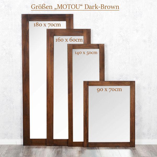 Spiegel MOTOU 140x50cm Dark-Brown Blauglockenbaum – Bild 5