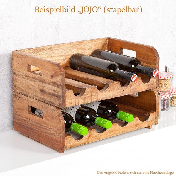 Flaschenhalter JOJO Rustic Teak stapelbar – Bild 3