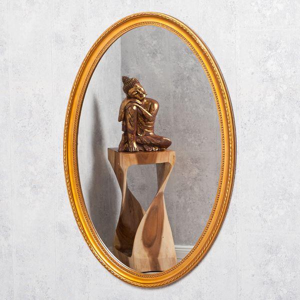 Spiegel NERINA 70x50cm gold-antik oval – Bild 2