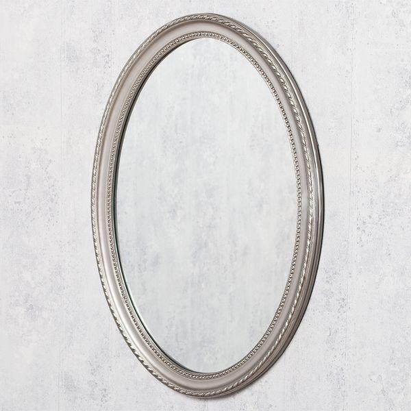 Spiegel NERINA 90x60cm silber-antik oval – Bild 3