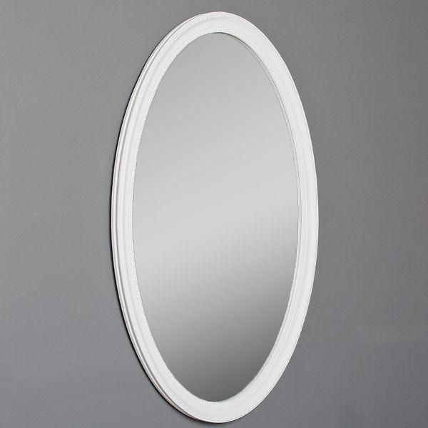 Spiegel NERINA 90x60cm weiß-matt oval – Bild 2