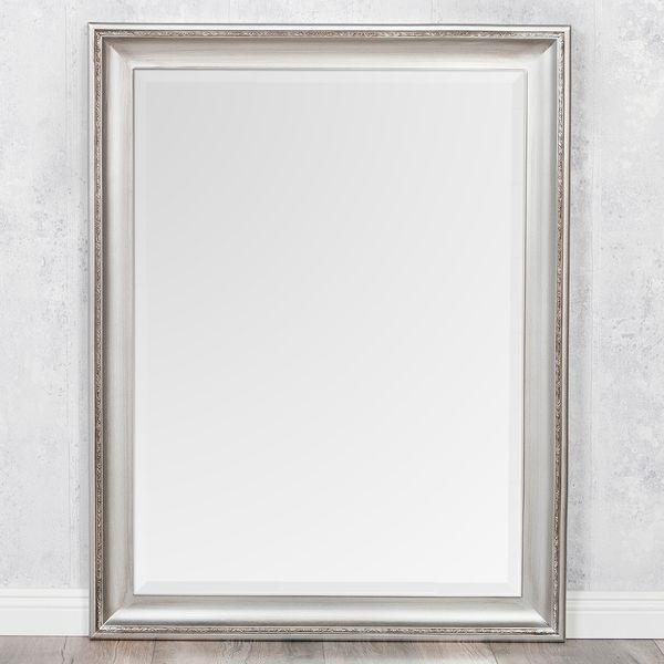 Spiegel COPIA 90x70cm Silber-Antik Wandspiegel Barock – Bild 2