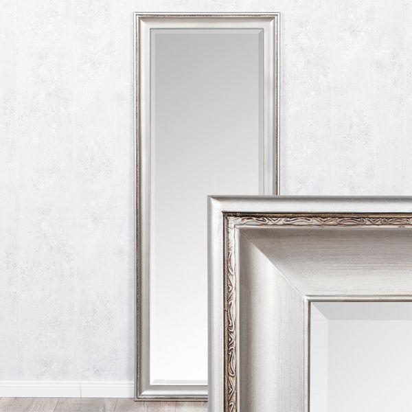 Spiegel COPIA 180x70cm Silber-Antik Wandspiegel Barock – Bild 1