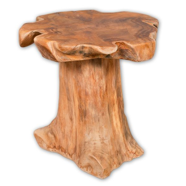 Teak Beistelltisch MELAYA Natural Ø ca. 45cm massiv – Bild 7