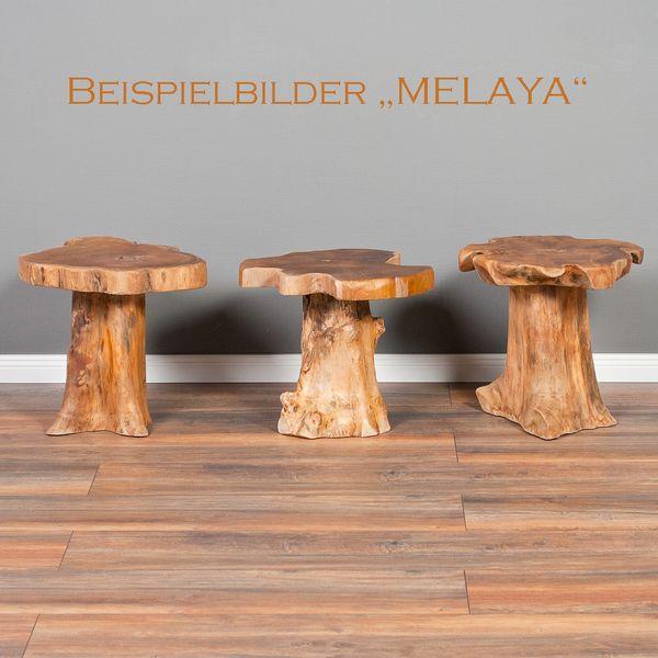 Teak Beistelltisch MELAYA Natural Ø ca. 45cm massiv – Bild 4