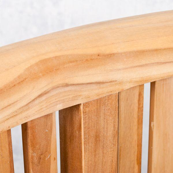 Teak-Sitzbank PISANG ca.160cm geschwungene Form – Bild 6