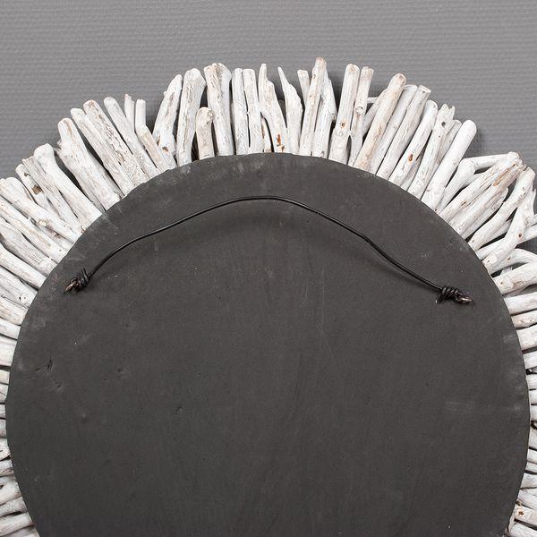 Wand-Deko-Objekt BULAT White Wash Ø ca. 70cm Treibholz – Bild 7