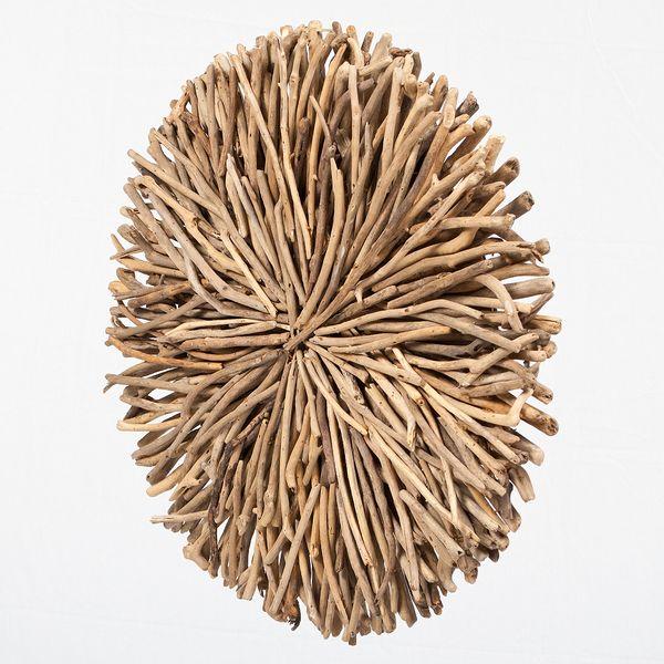 Wand-Deko-Objekt BULAT Natural Ø ca. 70cm Treibholz – Bild 3