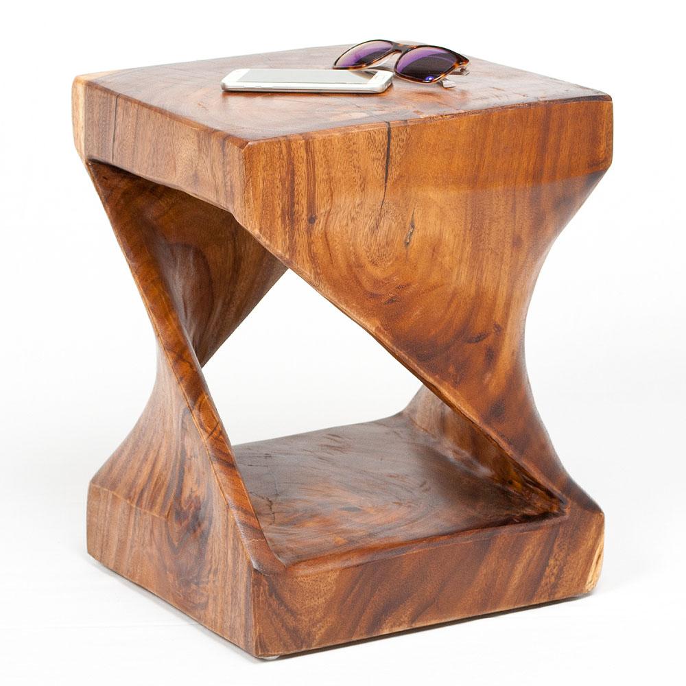 Genial Holz Beistelltisch Das Beste Von Millenium Ca. 45cm Suar-holz Massivholz Telefontisch Deko-säule