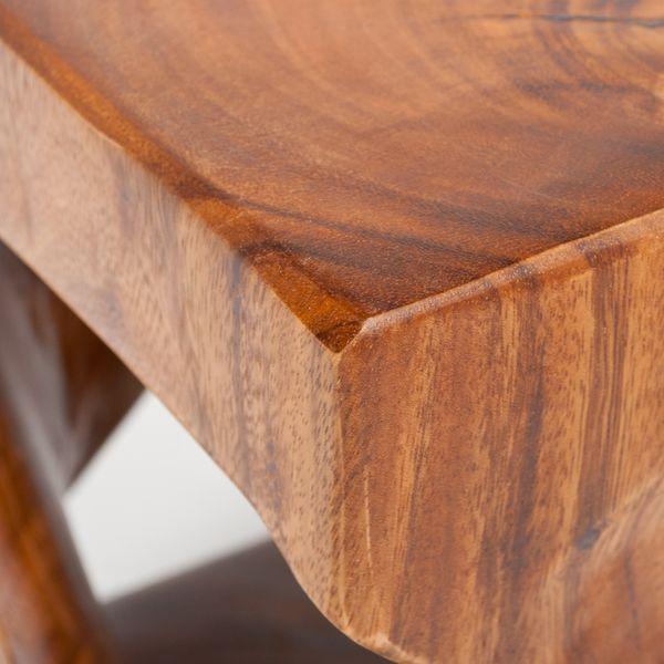 Beistelltisch MILLENIUM ca. 45cm Suar-Holz Massivholz Telefontisch Deko-Säule – Bild 5