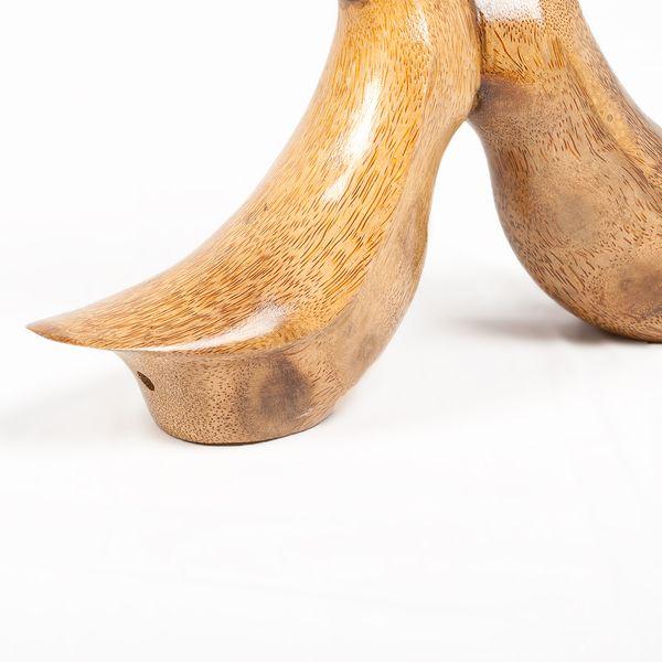 Deko-Figur DUCK LOVE ca. H35cm Bambus / Teak Natural Holz Handarbeit – Bild 4