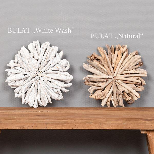Wand-Deko-Objekt BULAT White Wash Ø ca. 30cm Treibholz – Bild 4