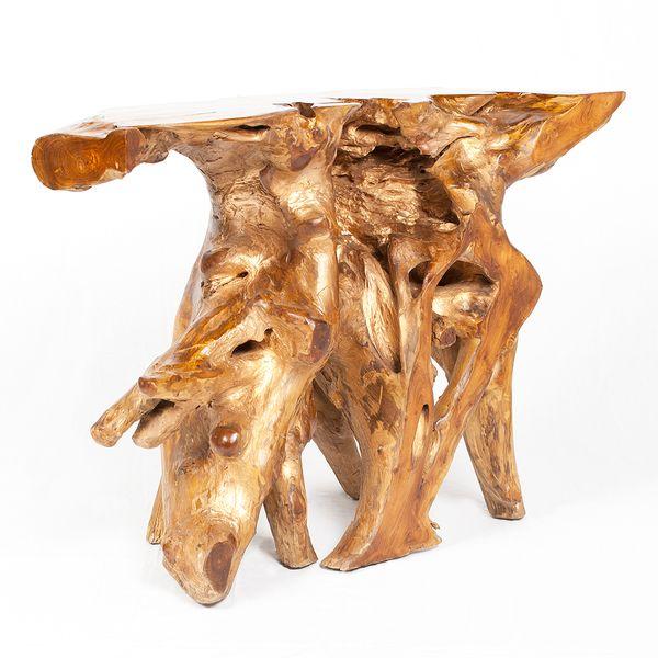 Teak Konsole PRIMIE Emas (Gold-Optik) ca.: 120x80x40cm (BxHxT) – Bild 8