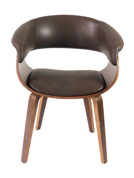 Lounge Sessel SELLA Chocolate-Q Vollholz Textilleder Stuhl Design Armlehnenstuhl – Bild 2